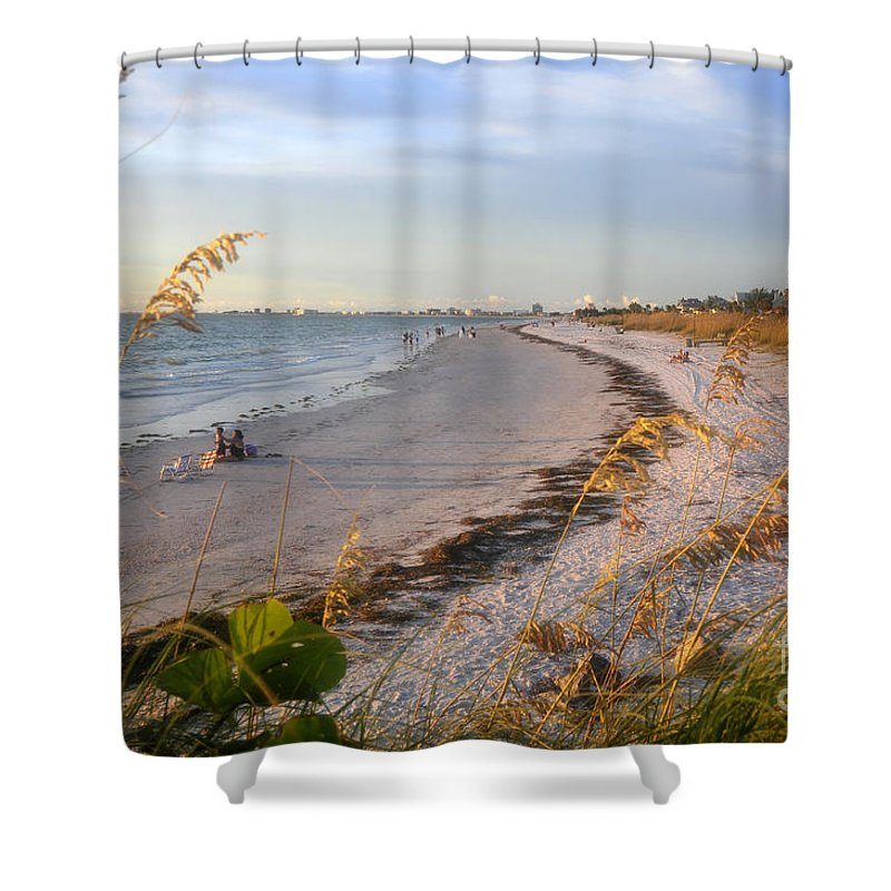 Pass A Grill Beach Florida Shower Curtain featuring the photograph Pass A Grill Beach Florida by David Lee Thompson