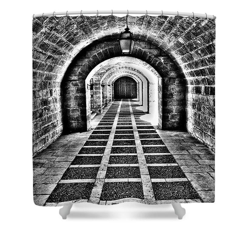 Balearics Shower Curtain featuring the photograph Passage, La Seu, Palma De by John Edwards