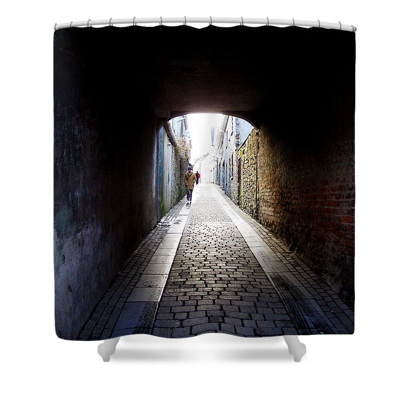 Cooblestone Shower Curtain featuring the photograph Passage by Tim Nyberg