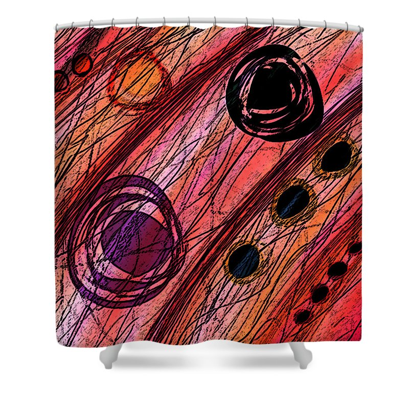 Abstract Shower Curtain featuring the digital art Passages by Rachel Christine Nowicki