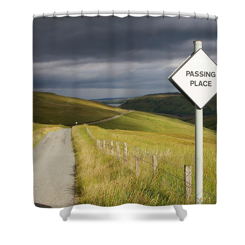 Skye Shower Curtain featuring the photograph Passing Place by Porter Glendinning