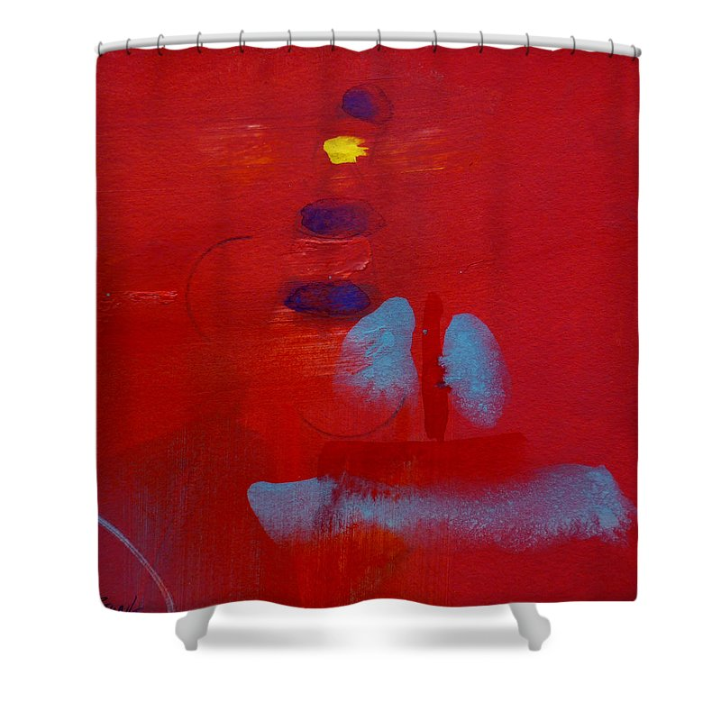 Lighthouse Shower Curtain featuring the painting Passing The Lighthouse by Charles Stuart