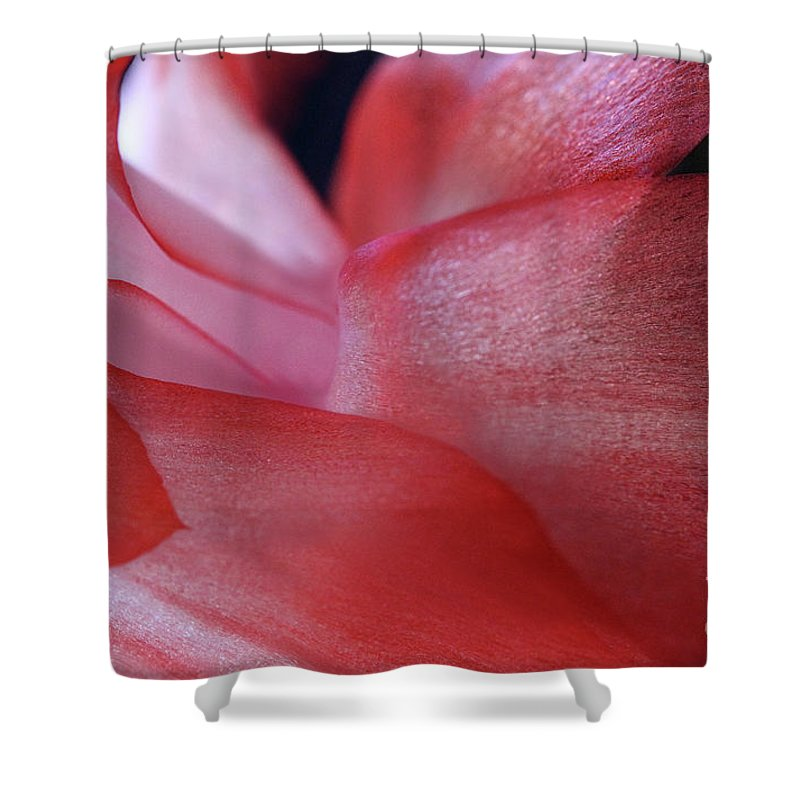 Abstract Shower Curtain featuring the photograph Passion by Karen Adams