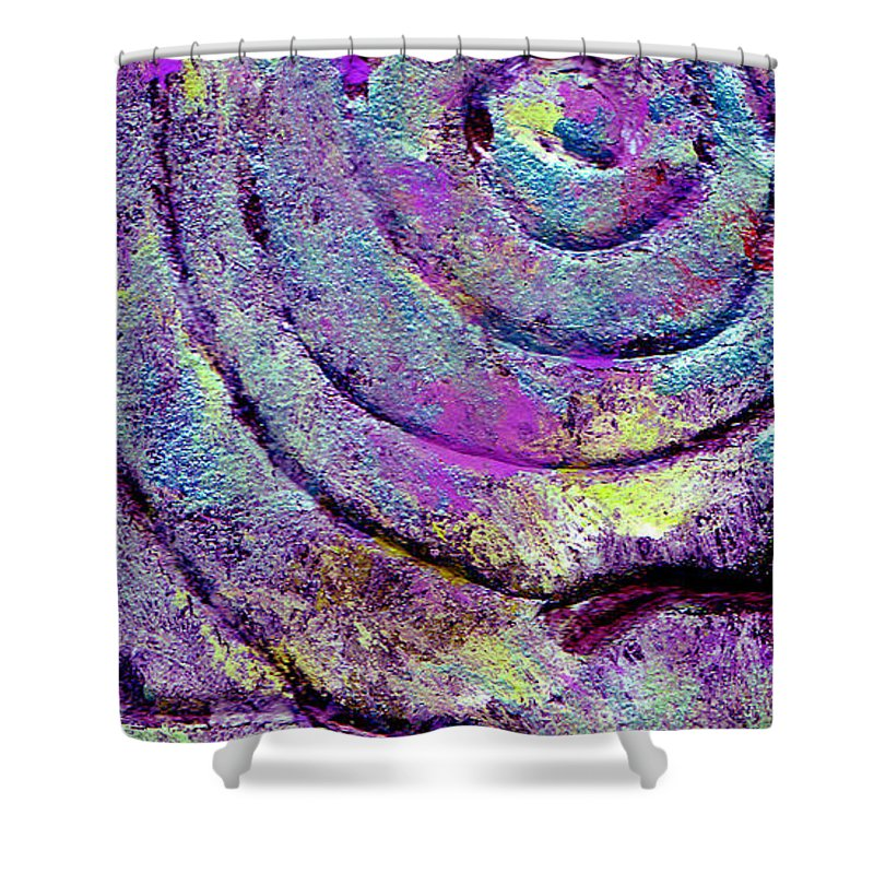 Abstract Shower Curtain featuring the painting Passionate Swirl by Wayne Potrafka