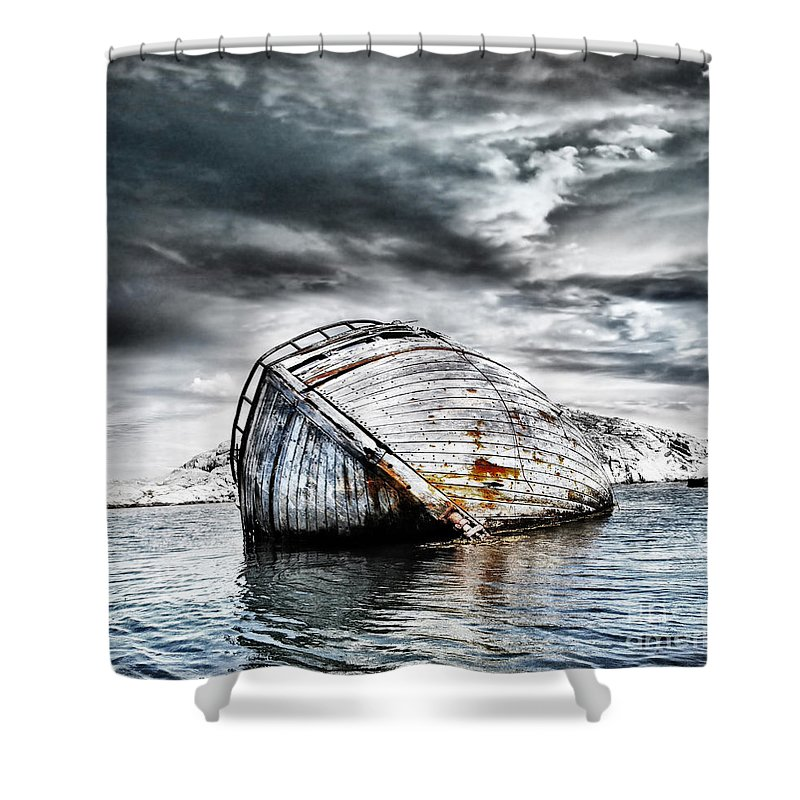 Photodream Shower Curtain featuring the photograph Past Glory by Jacky Gerritsen