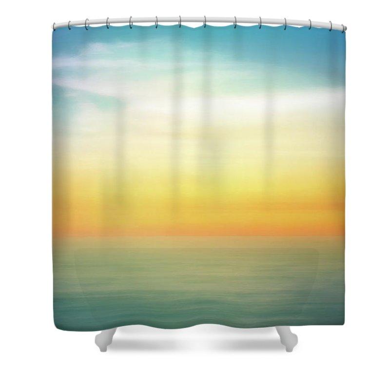 Pastel Shower Curtain featuring the digital art Pastel Sunrise by Scott Norris