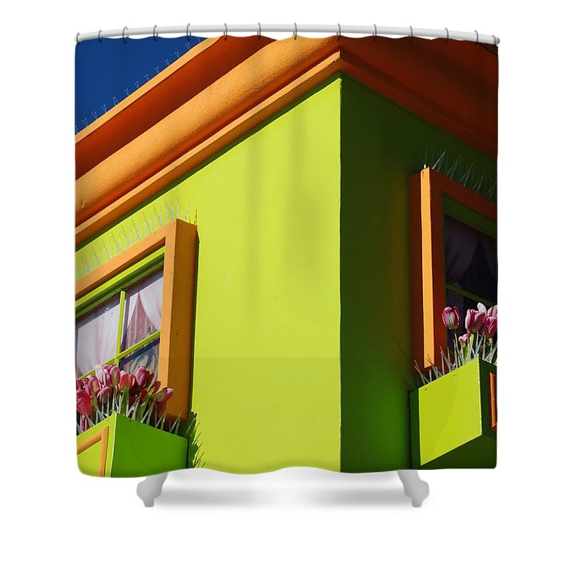 Sky Shower Curtain featuring the photograph Pastle Corners by Rob Hans