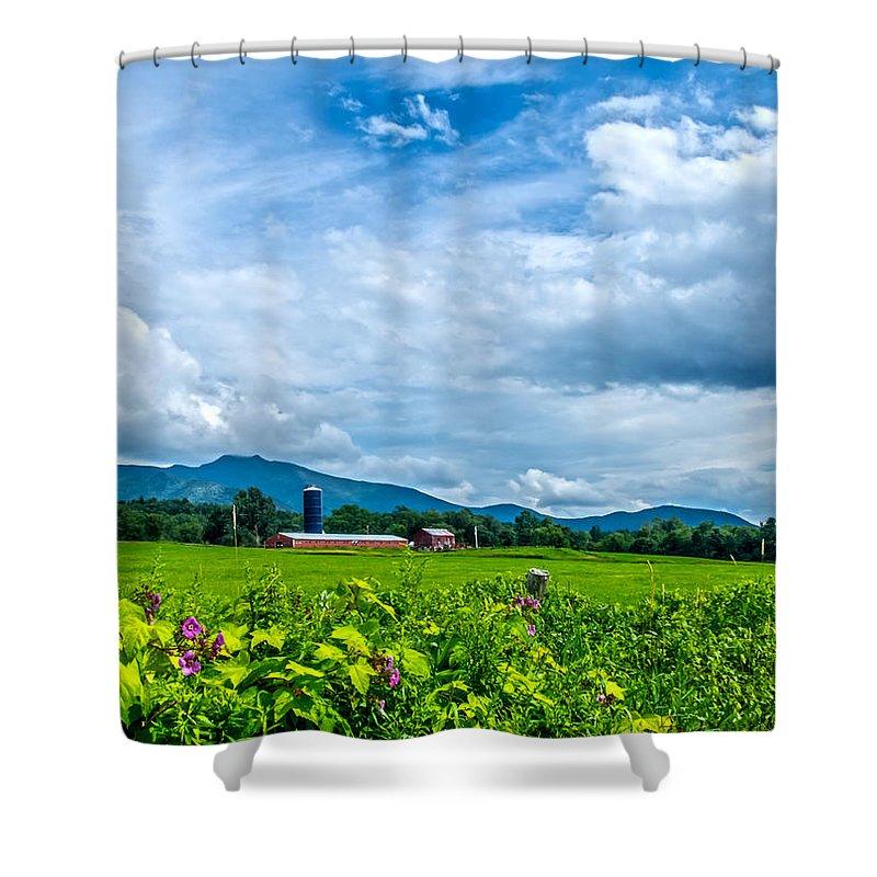 Farm Shower Curtain featuring the photograph Pastoral Vermont Farmland by James Aiken