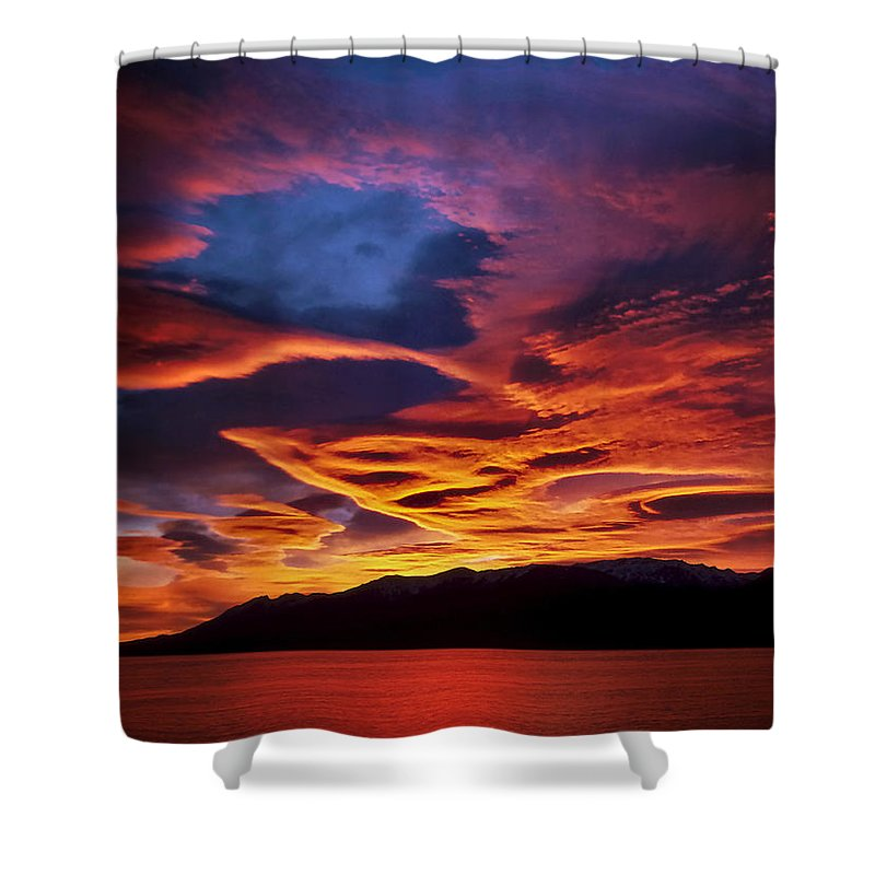 Patagonia Shower Curtain featuring the photograph Patagonian Sunrise by Joe Bonita