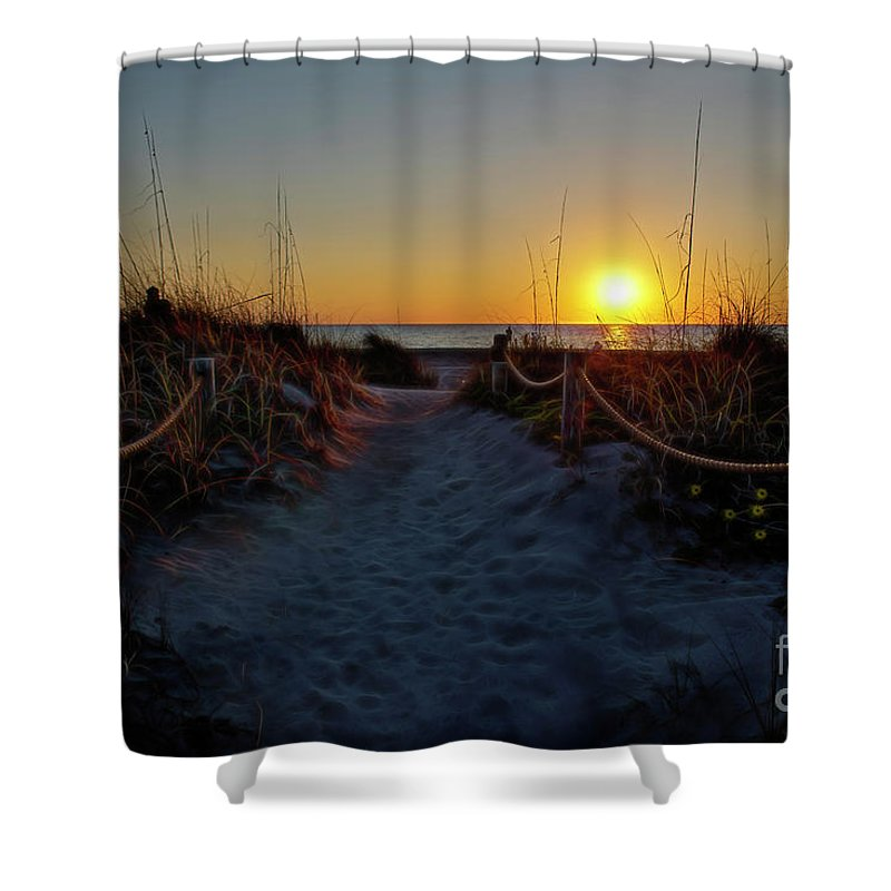 Path Shower Curtain featuring the photograph Path To Beach by David Arment