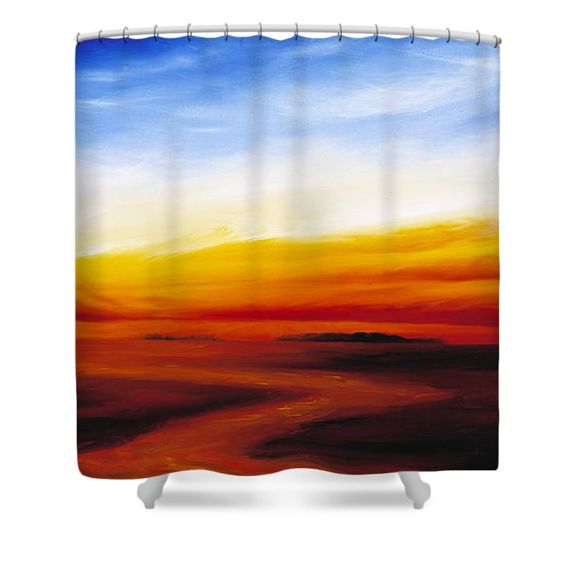 Sunrise Shower Curtain featuring the painting Path To Redemption by James Christopher Hill