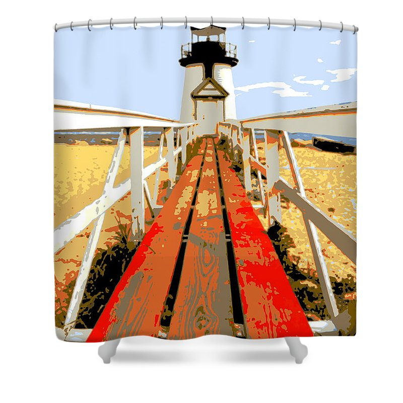 Lighthouse Shower Curtain featuring the photograph Path To The Lighthouse by Imagery-at- Work