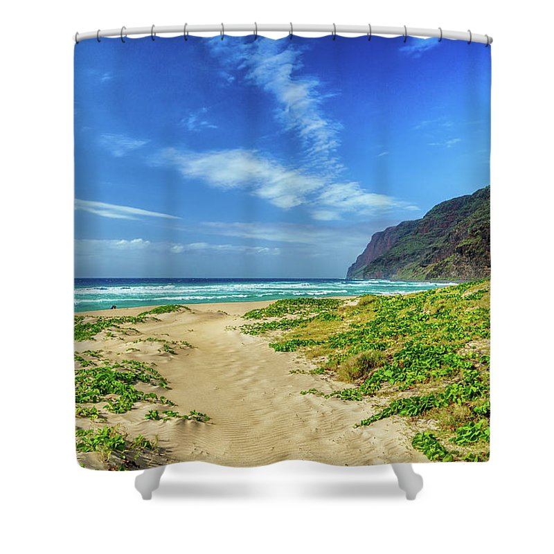 Beach Shower Curtain featuring the photograph Pathway To Heaven by David Kulp