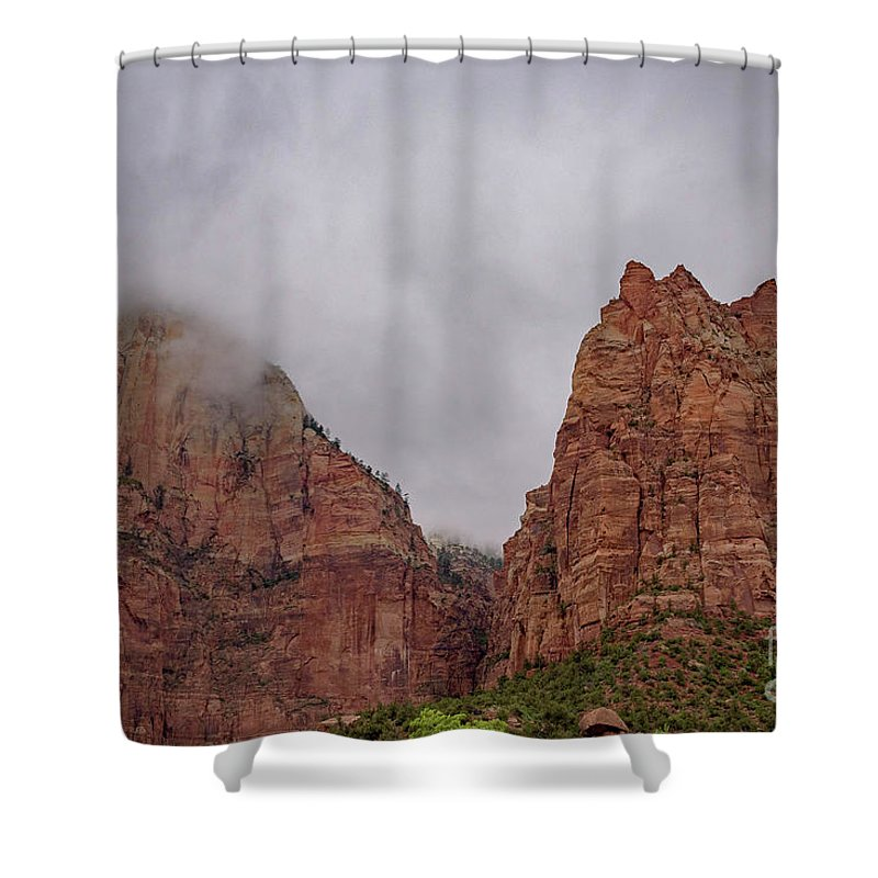Utah 2017 Shower Curtain featuring the photograph Patriarchs by Jeffrey Hubbard