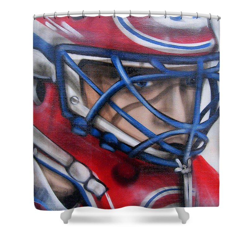 North America Shower Curtain featuring the photograph Patrick Roy ... by Juergen Weiss