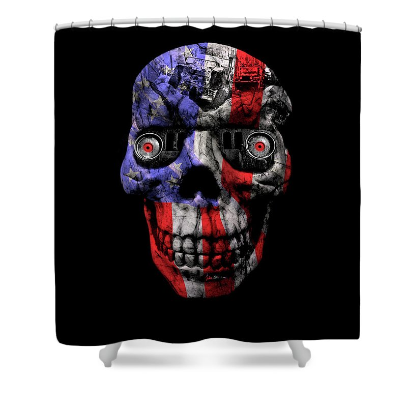 Jeep Shower Curtain featuring the photograph Patriotic Jeeper Cyborg No. 1 by Luke Moore