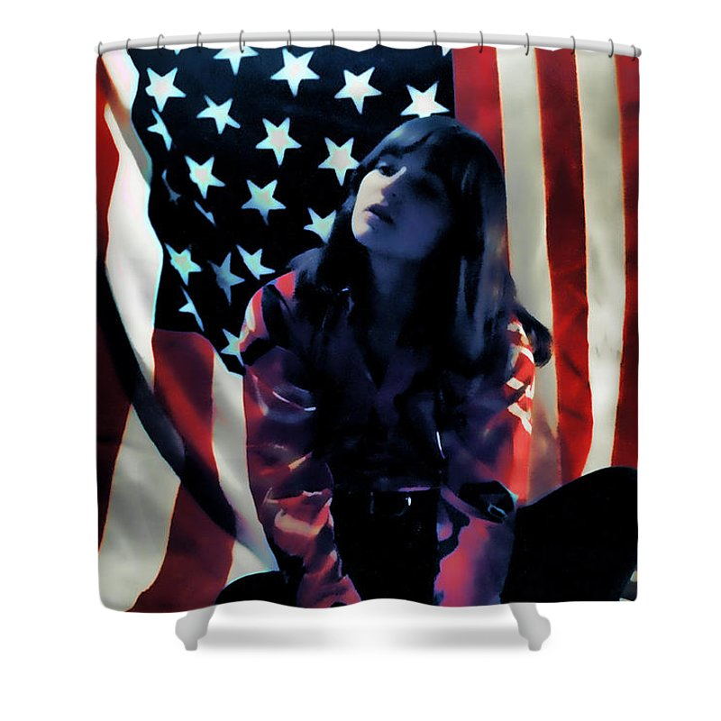 Flag Shower Curtain featuring the photograph Patriotic Thoughts by David Patterson