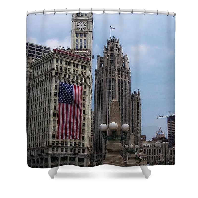 Chicago Shower Curtain featuring the photograph Patriotic View by Donna Blackhall
