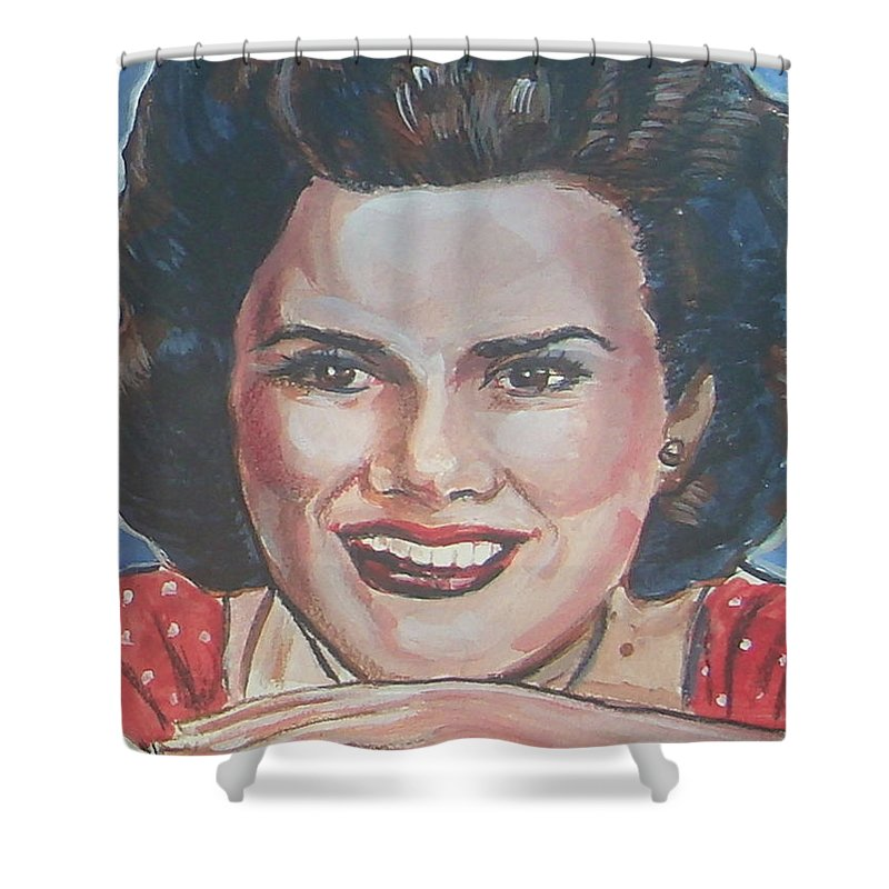 Patsy Cline Shower Curtain featuring the painting Patsy Cline by Bryan Bustard