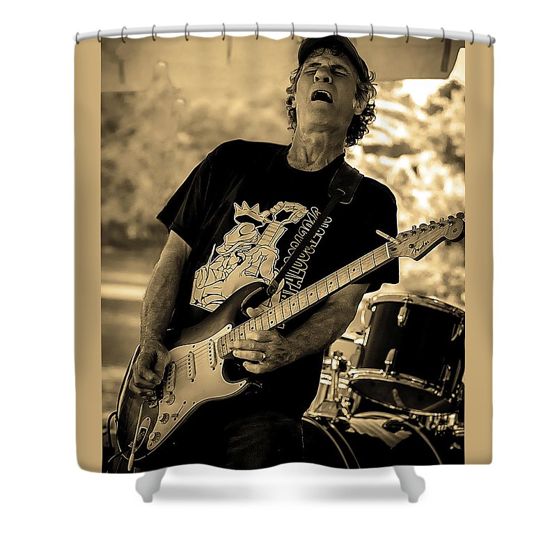 Shower Curtain featuring the photograph Paul Warren Rockin' by Toby Horton