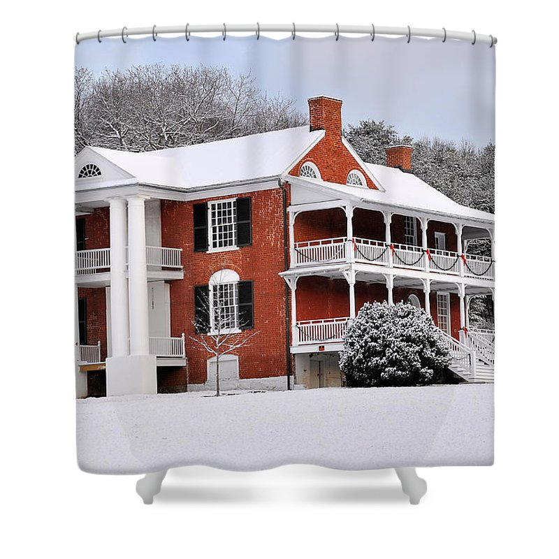 Paxton House Shower Curtain featuring the photograph Paxton House by Todd Hostetter