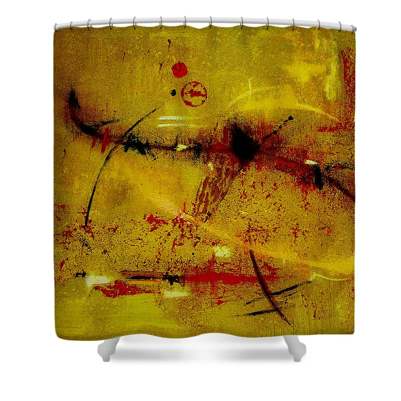 Abstract Shower Curtain featuring the painting Pay More Careful Attention by Ruth Palmer