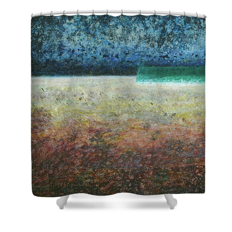 Painting Shower Curtain featuring the painting Paystract by Jean-luc Lacroix