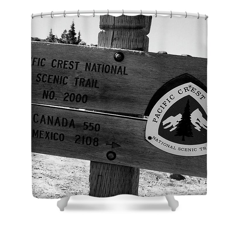 Fine Art Photography Shower Curtain featuring the photograph Pct Scenic Trail by David Lee Thompson