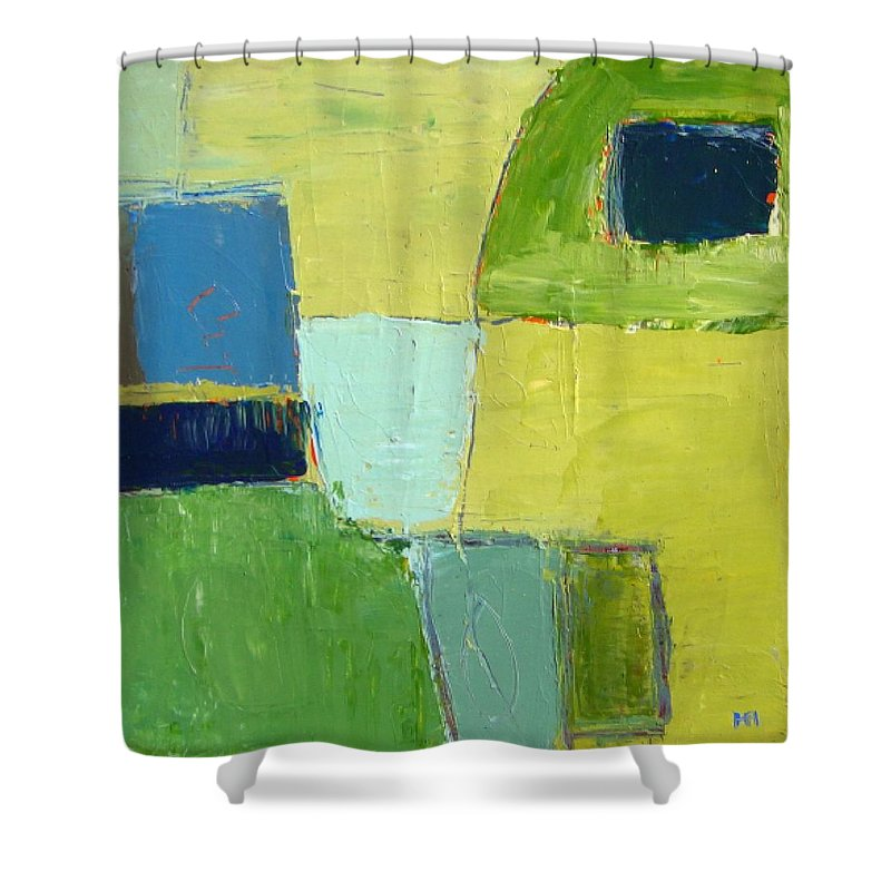 Abstract Shower Curtain featuring the painting Peace 1 by Habib Ayat