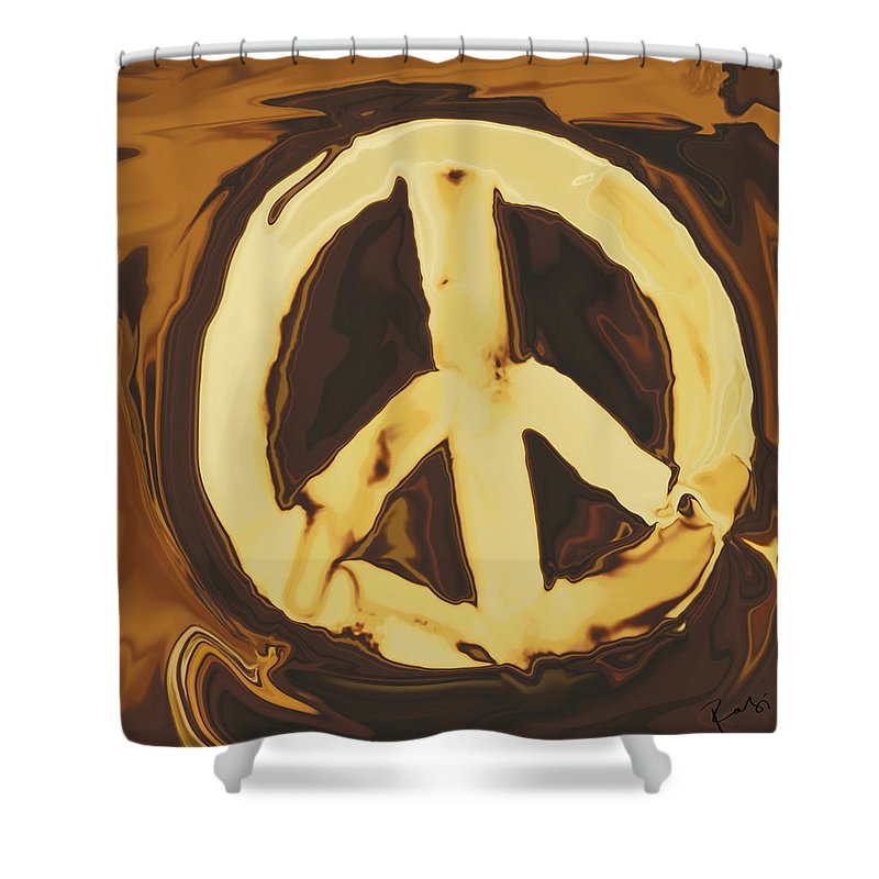 Freedom Shower Curtain featuring the digital art Peace 2 by Rabi Khan