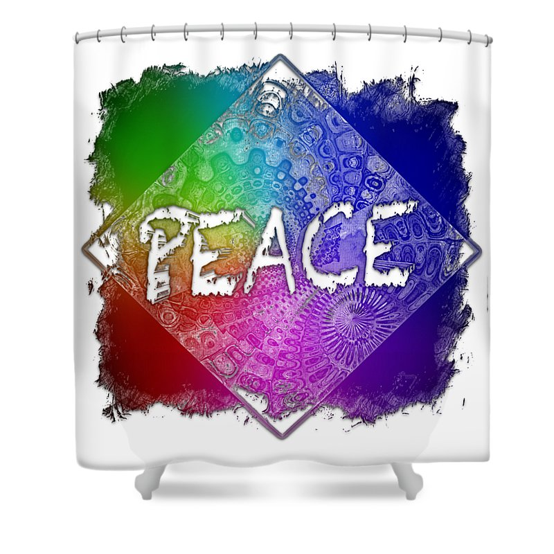 Peace Shower Curtain featuring the photograph Peace Cool Rainbow 3 Dimensional by Di Designs