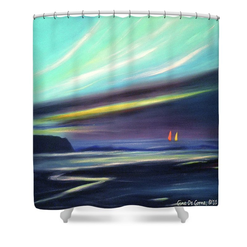 Brown Shower Curtain featuring the painting Peace Is Colorful 2 - Square by Gina De Gorna