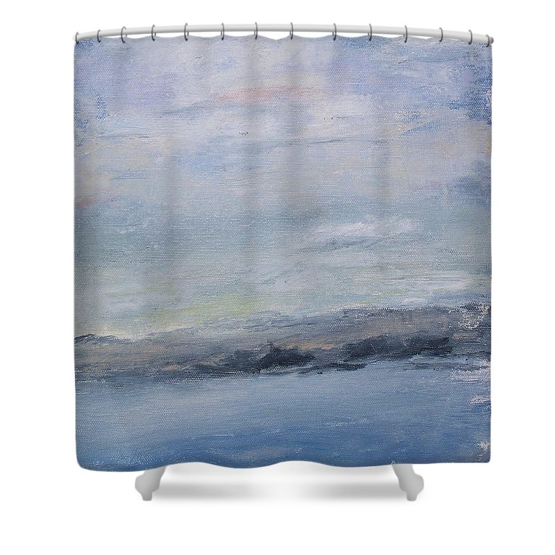 Sky Shower Curtain featuring the painting Peace by Patricia Caldwell