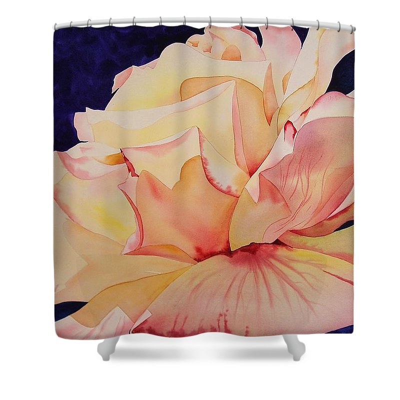 Rose Shower Curtain featuring the painting Peace Rose by Marlene Gremillion