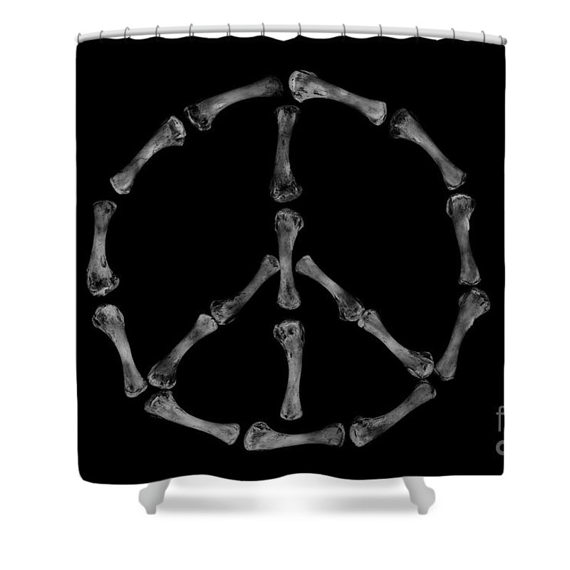 Peace Sign Shower Curtain featuring the photograph Peace Sign by Tino Lehmann