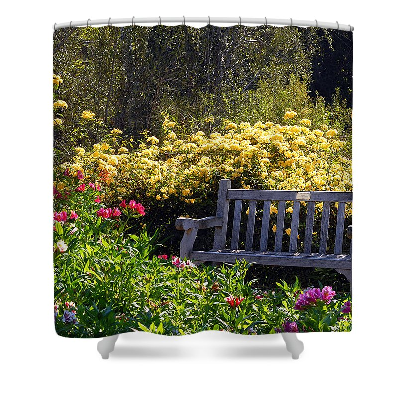 Flowers Shower Curtain featuring the photograph Peaceful by Amy Fose