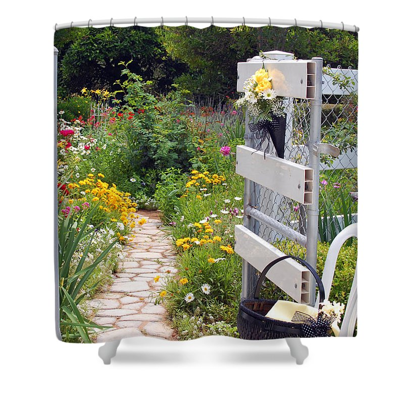 Garden Shower Curtain featuring the photograph Peaceful Garden by Amy Fose