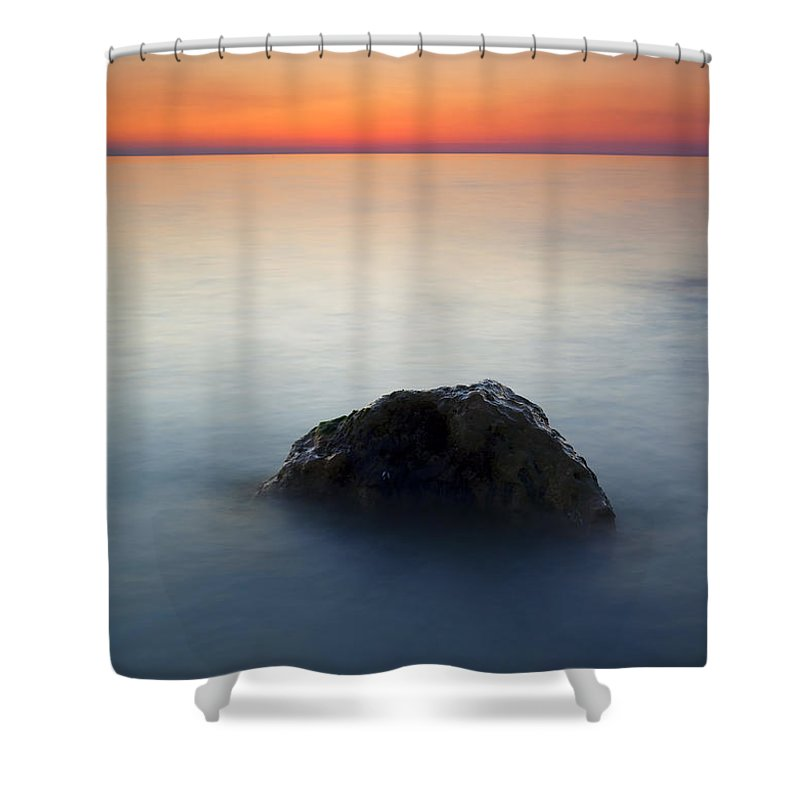 Rock Shower Curtain featuring the photograph Peaceful Isolation by Mike Dawson