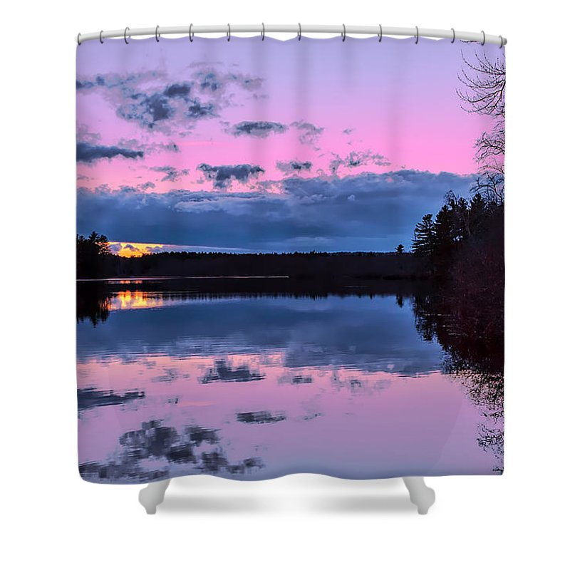 Townsend Ma Shower Curtain featuring the photograph Peaceful Pond by Larry Richardson