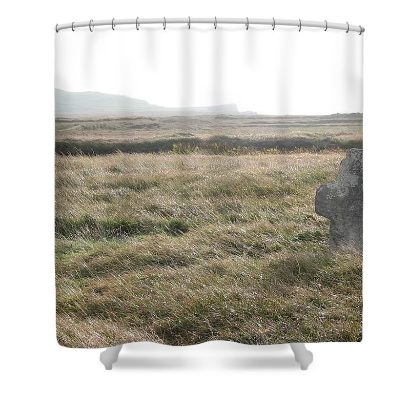 Midievil Shower Curtain featuring the photograph Peaceful Rest by Kelly Mezzapelle