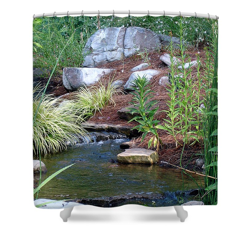 Landscape Shower Curtain featuring the photograph Peaceful by Shelley Jones