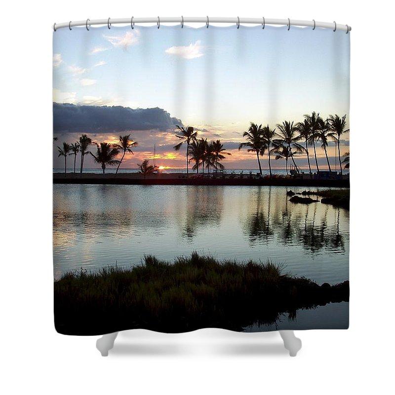 Sunset Shower Curtain featuring the photograph Peaceful Sunset by Deborah Crew-Johnson