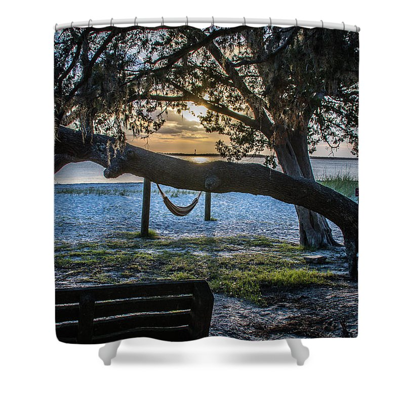 Peaceful Shower Curtain featuring the photograph Peaceful Sunset by Rick Allen
