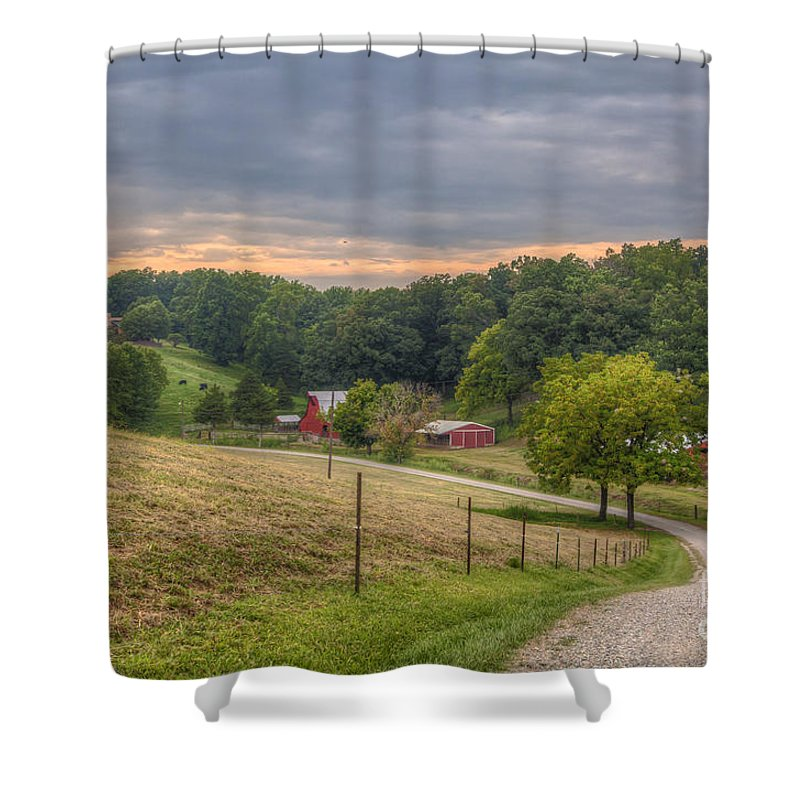 2015 Shower Curtain featuring the photograph Peaceful Valley by Larry Braun