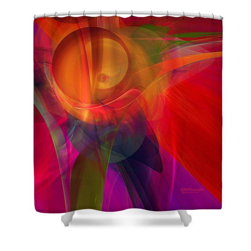 Peach Shower Curtain featuring the digital art Peach Dreams by Diane Parnell
