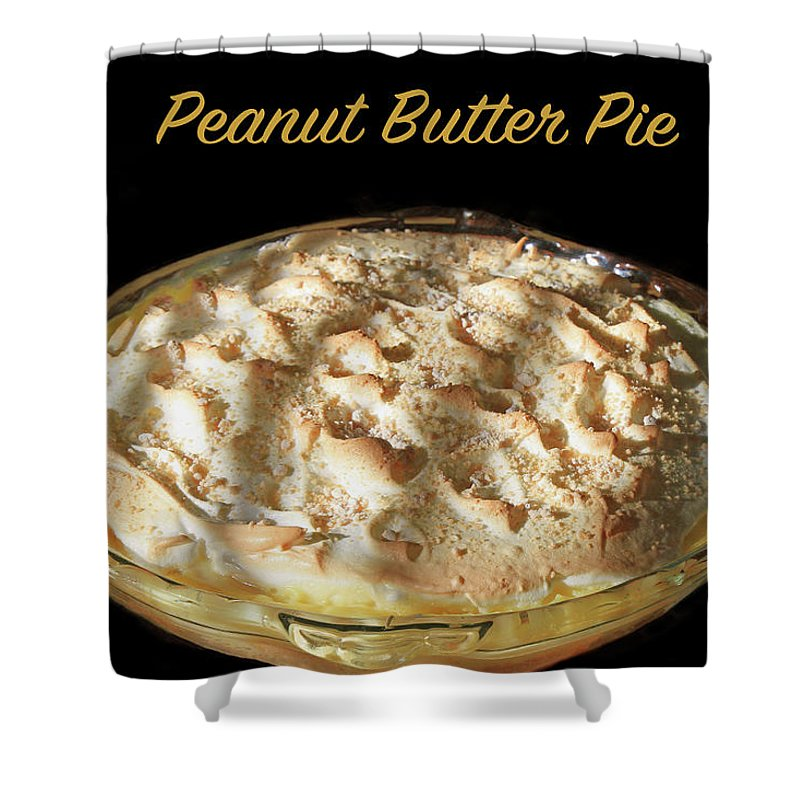 Peanut Butter Pie Shower Curtain featuring the photograph Peanut Butter Pie by Donna Kennedy