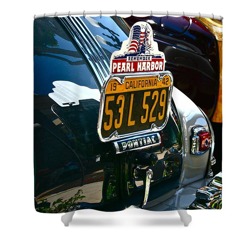 Photograph Shower Curtain featuring the photograph Pearl Harbor by Gwyn Newcombe