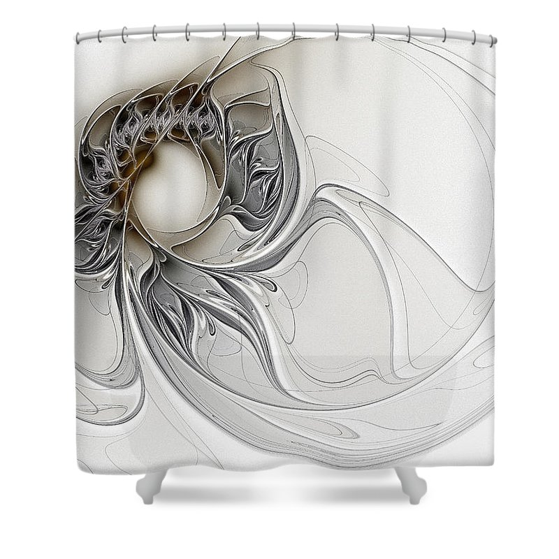 Digital Art Shower Curtain featuring the digital art Pearl by Amanda Moore