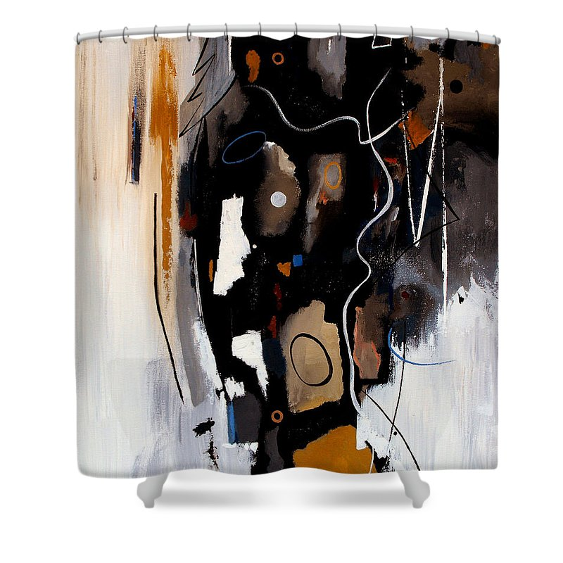 Abstract Shower Curtain featuring the painting Pebbles In The Stream by Ruth Palmer