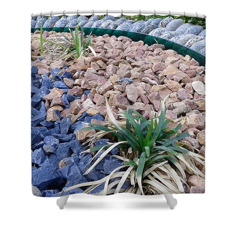 Nature Beautiful Garden Shower Curtain featuring the photograph Pebbles by Maha Ahmed